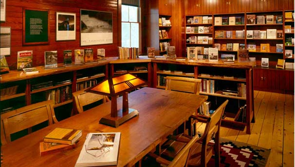 Bookstore and reading library in the Carriage Barn Visitor Center Resized