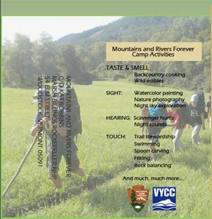 Mts & Rivers Forever Camp brochure
