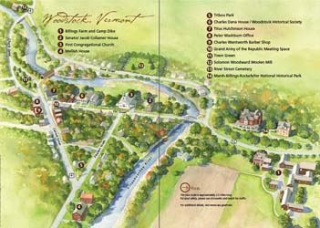Woodstock CW walking tour booklet map