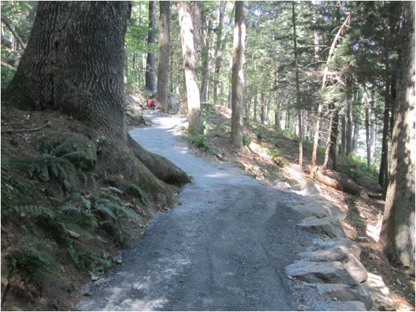 Completed section of the restored Faulkner Trail