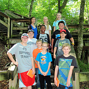 Students on a field trip to Mammoth Cave National Park
