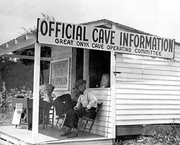 Capper Shack on the road to Mammoth Cave, circa 1920