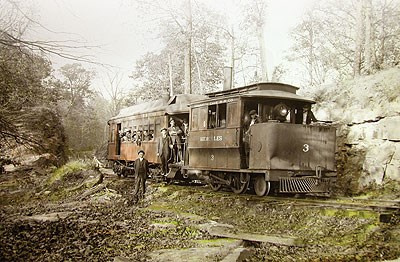 Historic railroad engine