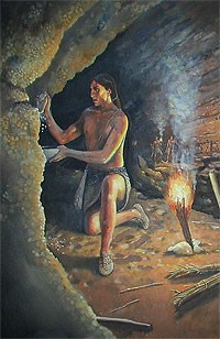 Native American miner in Mammoth Cave