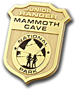 Junior Ranger badge for Mammoth Cave National Park