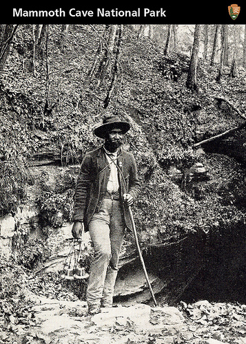 William Garvin at the Historic Entrance to Mammoth Cave
