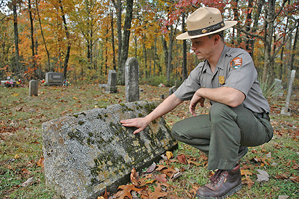 Ranger John Davis At Mammoth Cave Baptist Church Cemetery