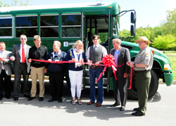 Ribbon-cutting for the new alternative fuel vehicles