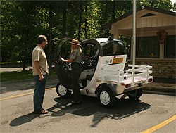 GEM electric vehicle with ranger