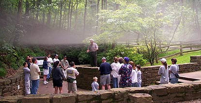 Fog at Mammoth Cave's Historic Entrance