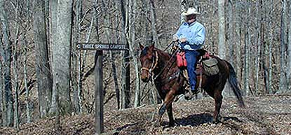 Horseback riding at Mammoth Cave National Park