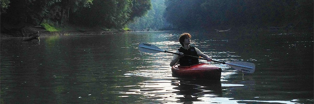 Kayaking on Green River in Mammoth Cave National Park
