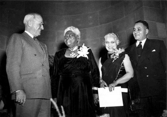 Bethune pictured with President Truman