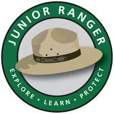 This is the Junior Ranger Logo- it is round with a flat hat in the center.
