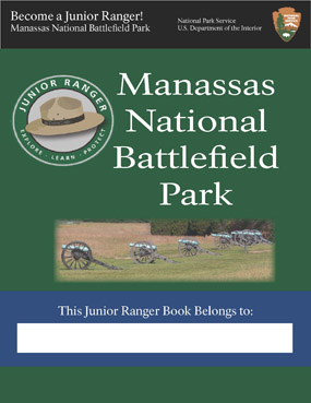 Manassas National Battlefield Park Junior Ranger book