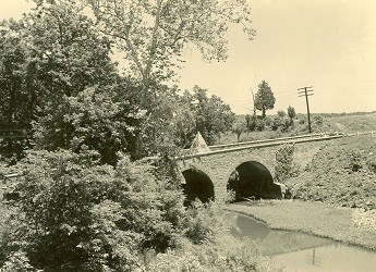 1940 view of the historic Stone Bridge over Bull Run