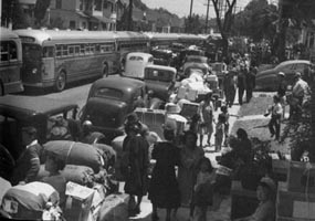Evacuees preparing to leave Los Angeles