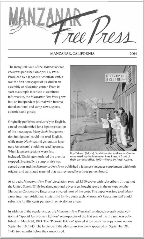 Manzanar Free Press Index - Manzanar National Historic Site (U.S. ...