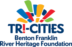 Colorful logo that includes the words Tri-Cities Benton Franklin River Heritage Foundation.