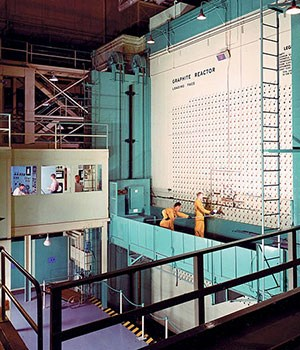 X-10 Graphite Reactor with workers