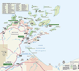Apostle Islands Map Maps   Apostle Islands National Lakeshore (U.S. National Park Service)