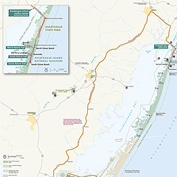Map Of Assateague Island Maps   Assateague Island National Seashore (U.S. National Park