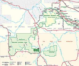 Badlands Nebraska Map.Maps Badlands National Park U S National Park Service