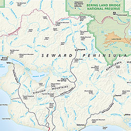 Bering Land Bridge National Preserve Map
