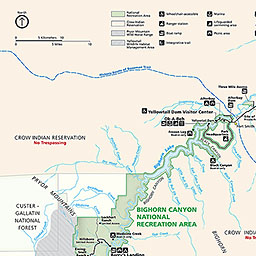Maps Bighorn Canyon National Recreation Area US National Park