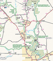 Maps Big Thicket National Preserve US National Park Service - Us map big