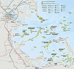 photo about Printable Map of Boston known as Maps - Boston Harbor Islands Countrywide Match Community (U.S.