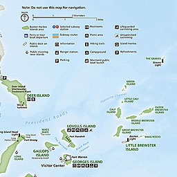 Maps Boston Harbor Islands National Recreation Area US - Boston us map