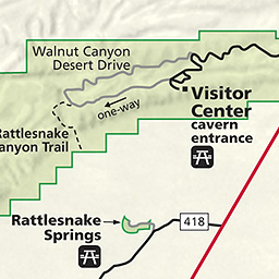 Maps Carlsbad Caverns National Park US National Park Service - Map of public caves us