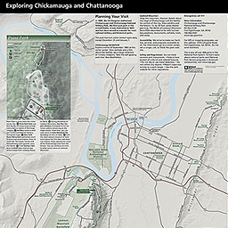 Maps Chickamauga Chattanooga National Military Park US