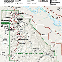 Maps Colorado National Monument US National Park Service - Coloradomap