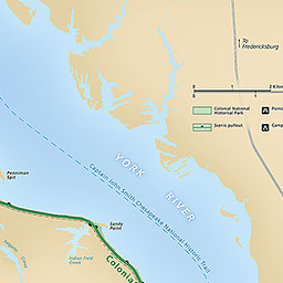 Maps Colonial National Historical Park US National Park Service - Colo river map