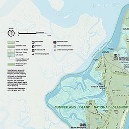 Map Of Cumberland Island Maps   Cumberland Island National Seashore (U.S. National Park