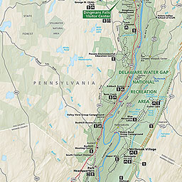 Maps Delaware Water Gap National Recreation Area US National - Delaware on us map