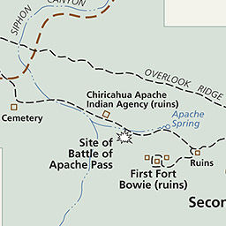 Maps Fort Bowie National Historic Site US National Park Service