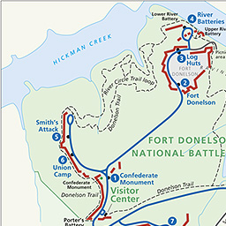 Maps Fort Donelson National Battlefield US National Park Service - Fort donelson on us map
