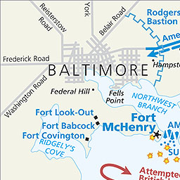 Maps Fort McHenry National Monument and Historic Shrine US