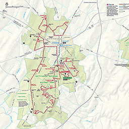 Map Of Gettysburg Maps   Gettysburg National Military Park (U.S. National Park Service)