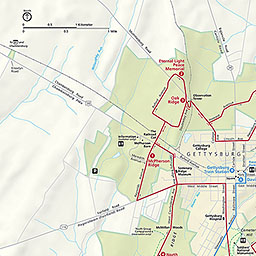 maps gettysburg national military park us national park service gettysburg battle us map
