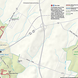 Maps Gettysburg National Military Park US National Park Service - Gettysburg on us map