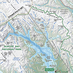 Maps Glacier Bay National Park Preserve US National Park - Us open grounds map