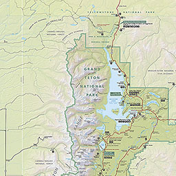 Maps Grand Teton National Park US National Park Service - District of downloadable us road map