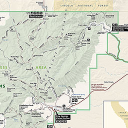 Maps Guadalupe Mountains National Park US National Park Service - Mountain map of us