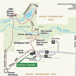 Maps George Washington Carver National Monument Us National - Washington-us-map