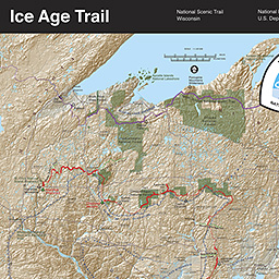 Maps Ice Age National Scenic Trail US National Park Service - Us gove ice map