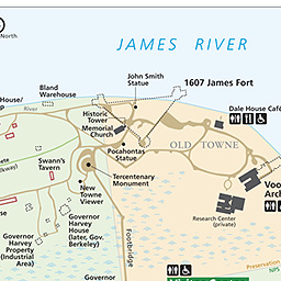 Maps Historic Jamestowne Part Of Colonial National Historical - Jamestown on us map